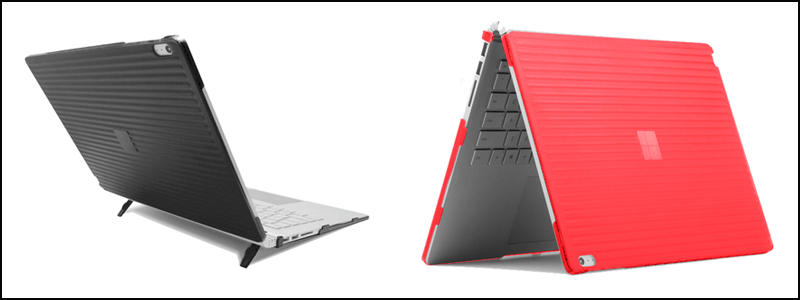 Grey and Pink Color Hard Shell Case of on Surface Book 2 15 Inch