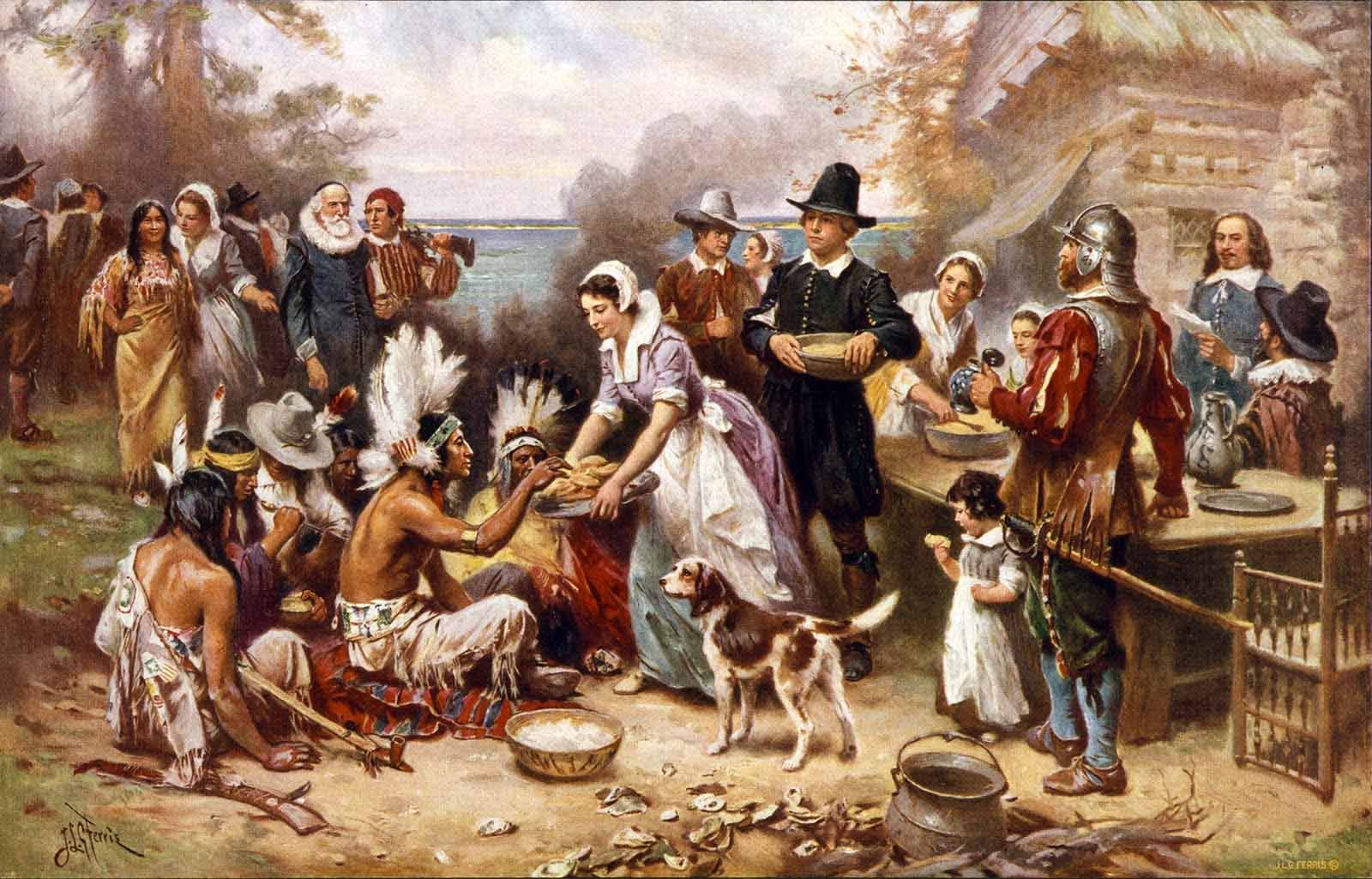 The Image of the First Thanksgiving Day