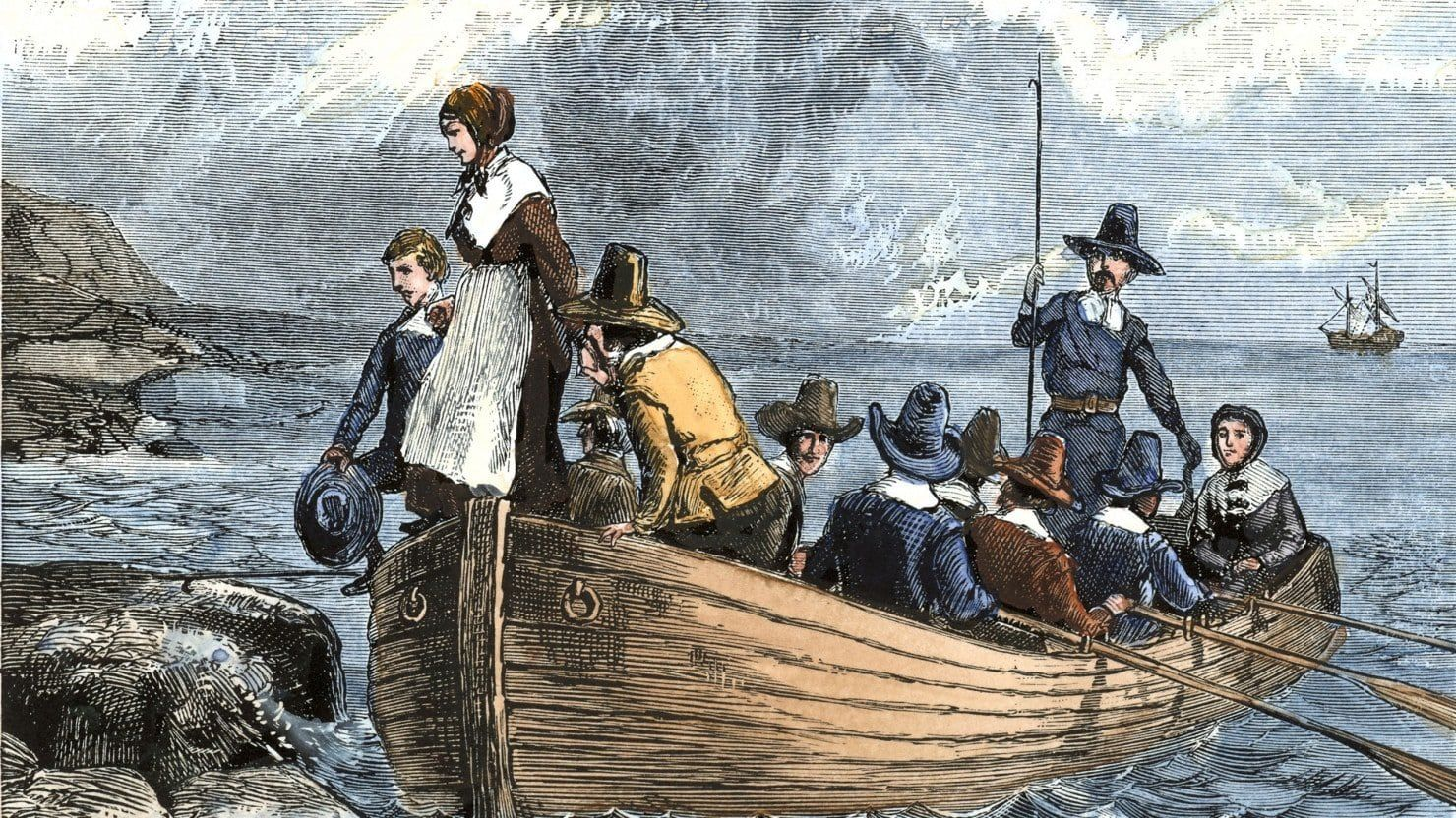 Pilgrims Sailed through Ocean to America