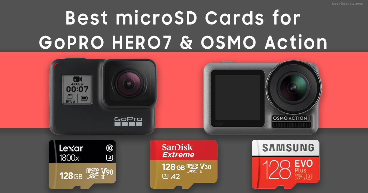 Best SD Cards GoPro HERO and DJI OSMO Action