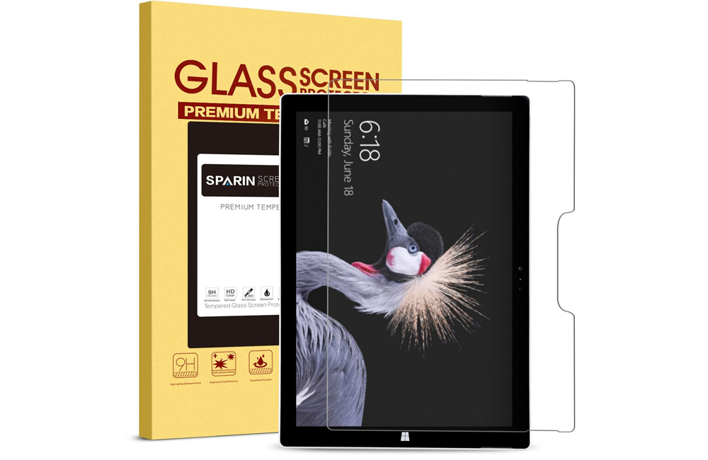 SPARIN Tempered Glass for Microsoft Tablet