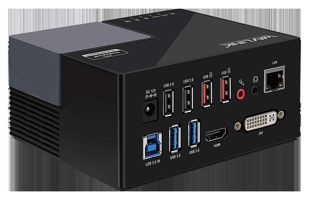 WAVLINK USB 3.0 Universal Laptop Docking Station Dual Monitor Display