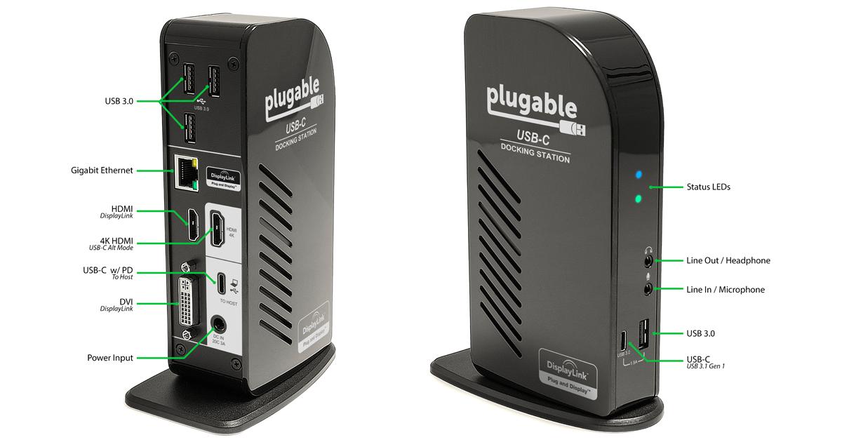 Plugable UD-ULTCDL Ports