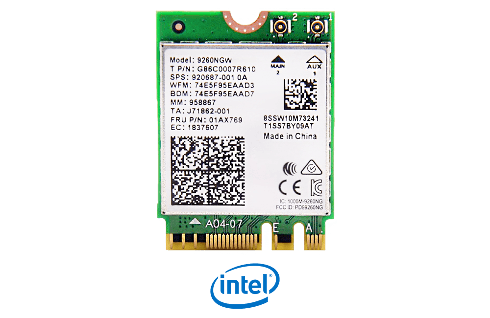 Intel Wireless AC 9260 Dual Band WiFi Card with Bluetooth 5.0