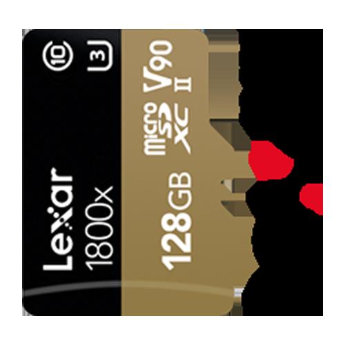 Lexar Professional 1800x microSD for 4K & 8K video recording