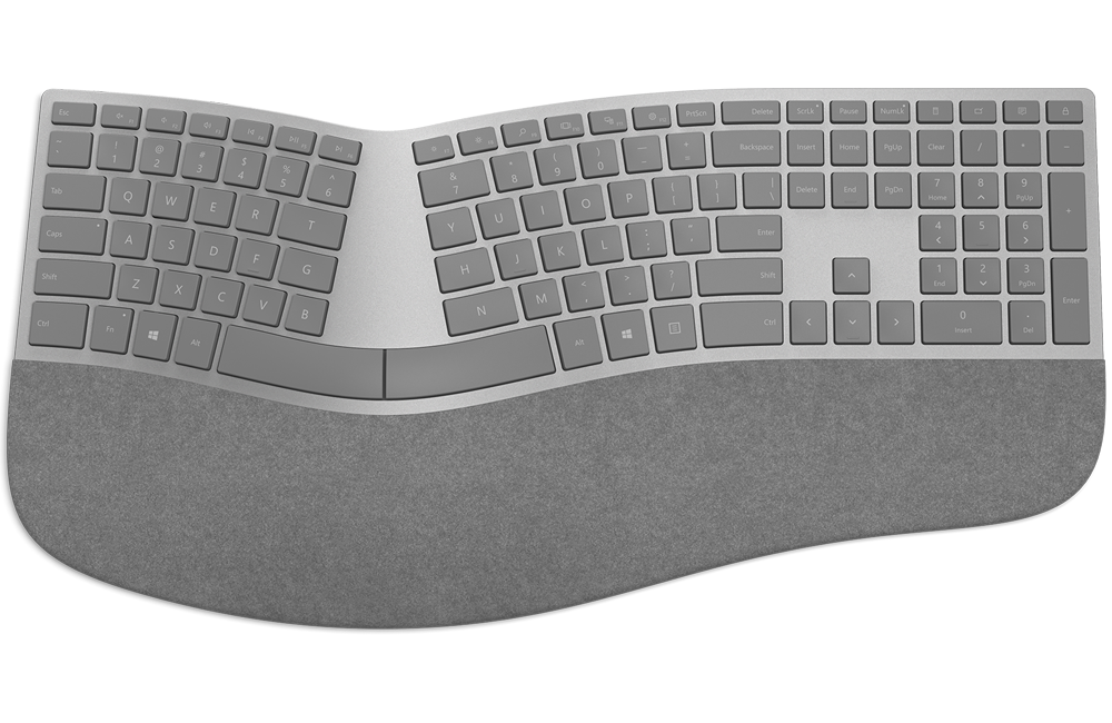 Surface Ergonomic Keyboard for strain-free typing experience