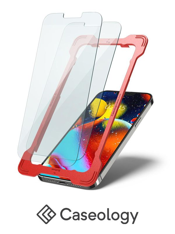 Caseology Snap Fit iPhone 13 Tempered Glass