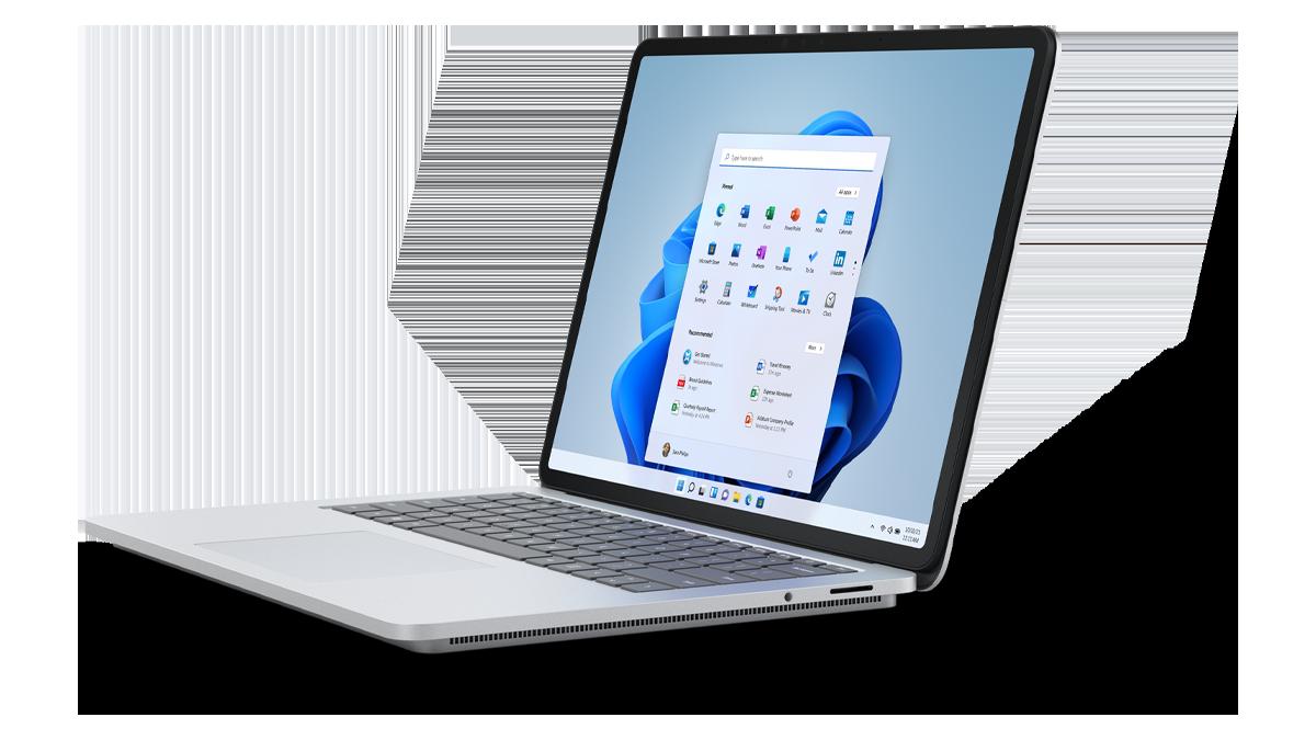 Surface Laptop Studio in Standard Laptop Mode